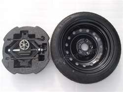 "FREE SHIPPING! OEM 2011 2012 2013 2014 2015 Kia Optima Complete Spare Tire Kit! Fits models with 16"" & 17"" wheels. #4CF40-AC950 & UKH16 12580T - Fits Optimas with 16"" wheels AND 17"" wheels!"