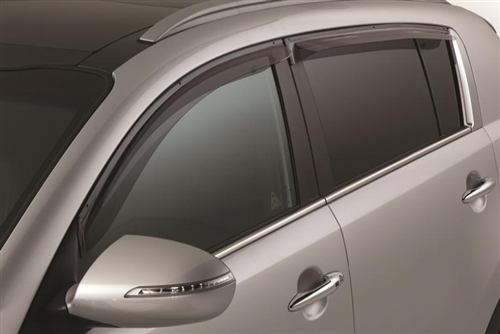 Light Tinted Out-Channel Vent Visor Deflector 4pcs For 2011-2016 Kia Sportage