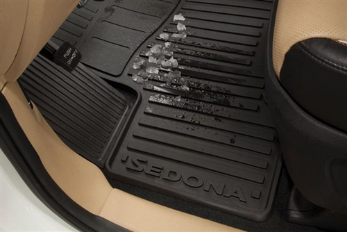 oem factory kia sedona all weather rubber floor mats a9013adu00