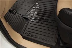 OEM Factory 2015 2016 2017 Kia Sedona SXL All Weather Rubber Floor Mats # A9013-ADU00 (Fits: SX Limited models)